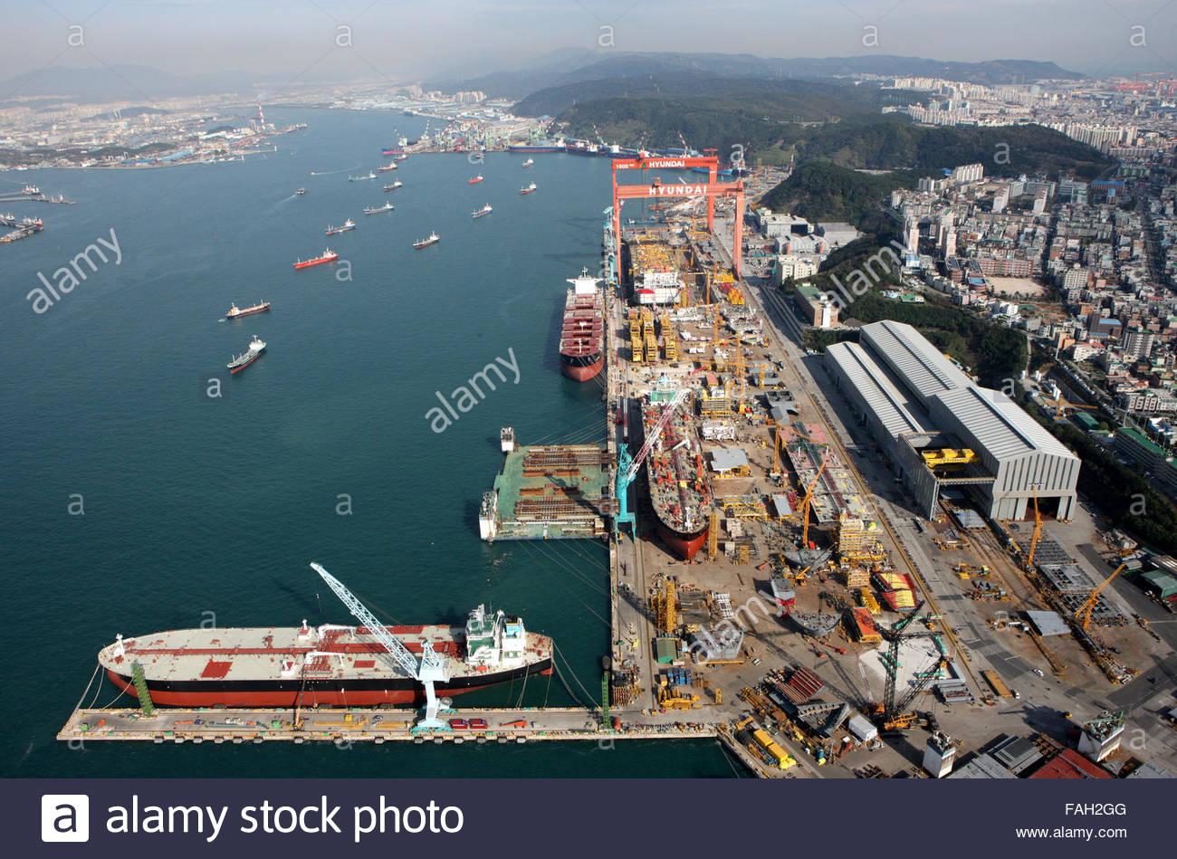 shipyard, Ulsan Metropolitan City - Stock Image