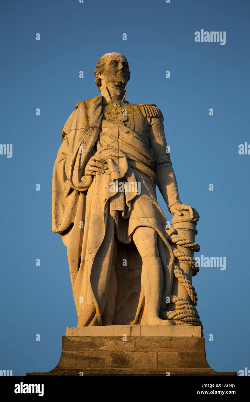 The memorial to Lord Collingwood at Tynemouth in Tyne and Wear, England. Stock Photo
