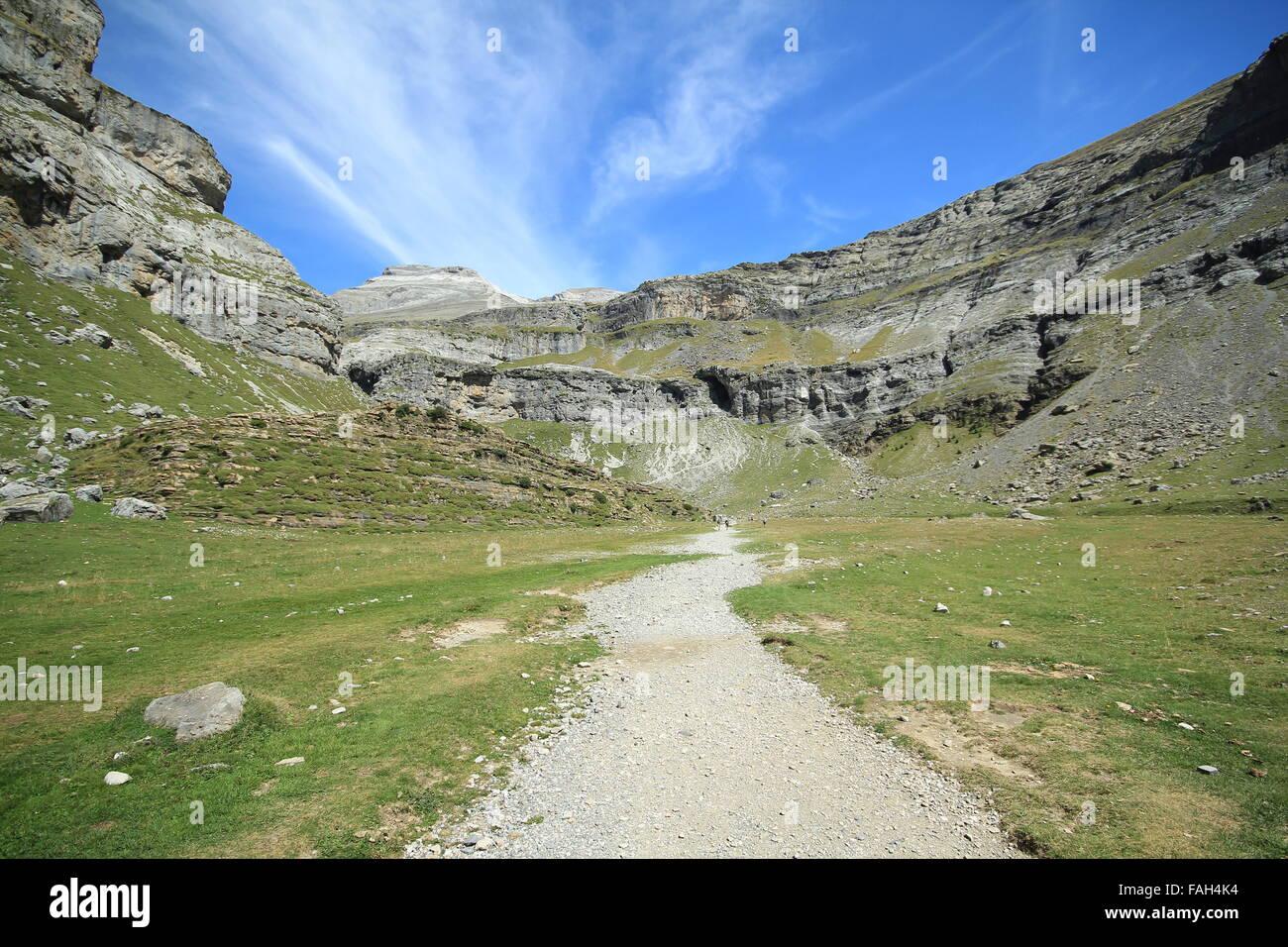Pyranese Mountains Stock Photo