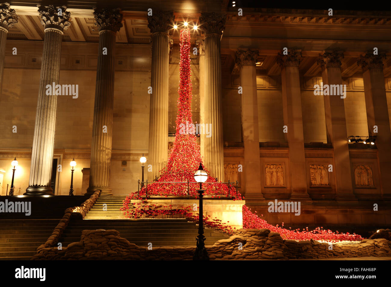 The Weeping Window, St George's Hall, Liverpool - Stock Image