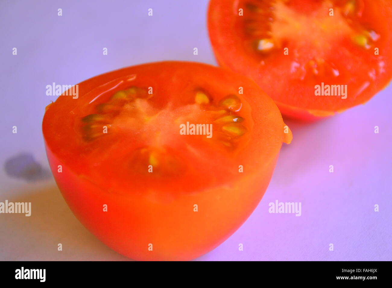 Cut tomato - Stock Image