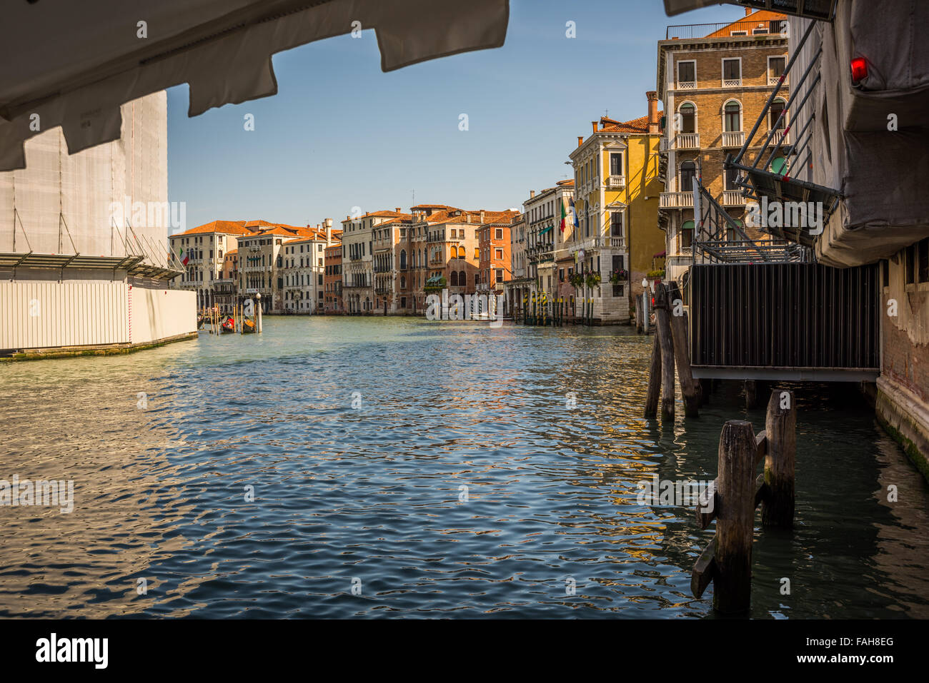 The Grand canal in the city of Venice Italy Stock Photo