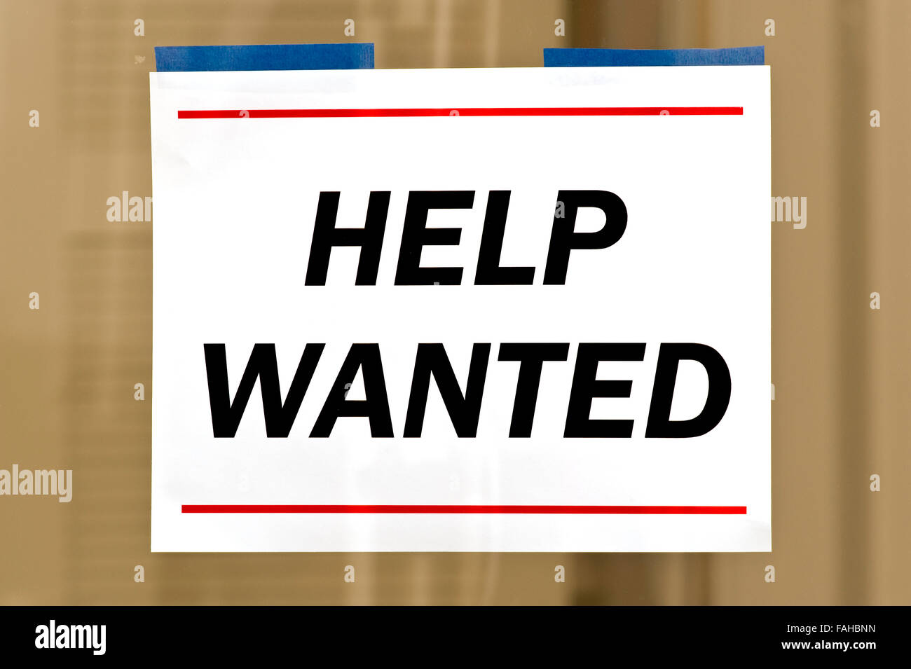 Help Wanted Sign - Stock Image