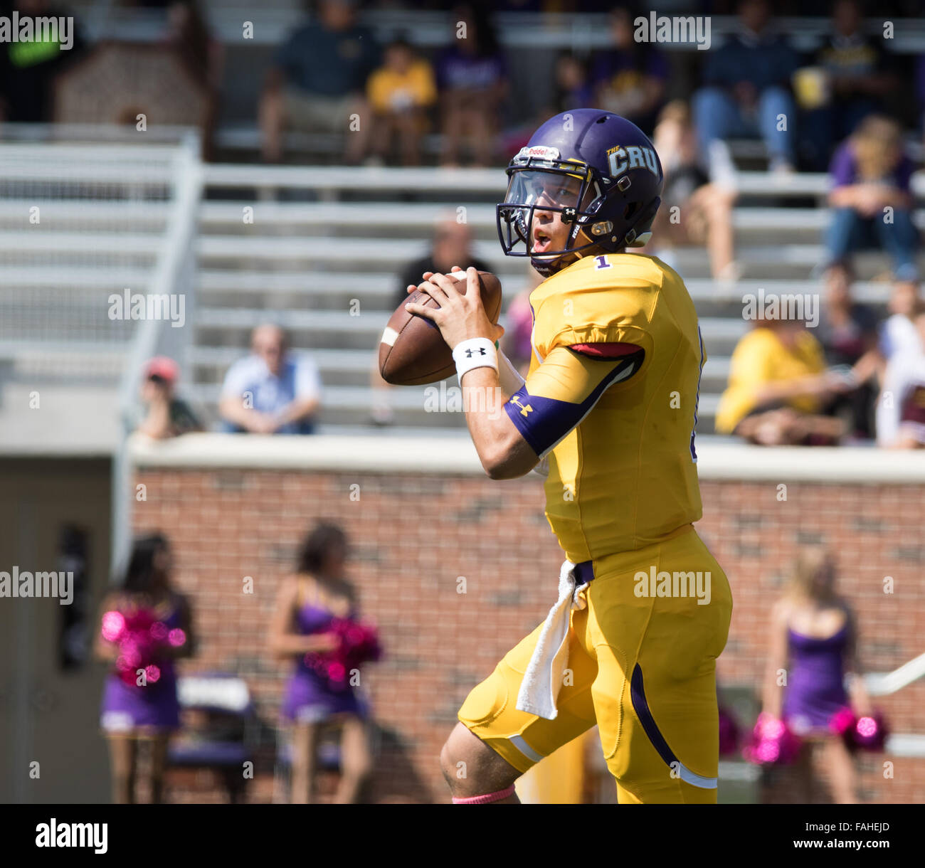 Belton, Texas, USA. 10th Oct, 2015. University of Mary Hardin-Baylor quarterback Zach Anderson. Stock Photo