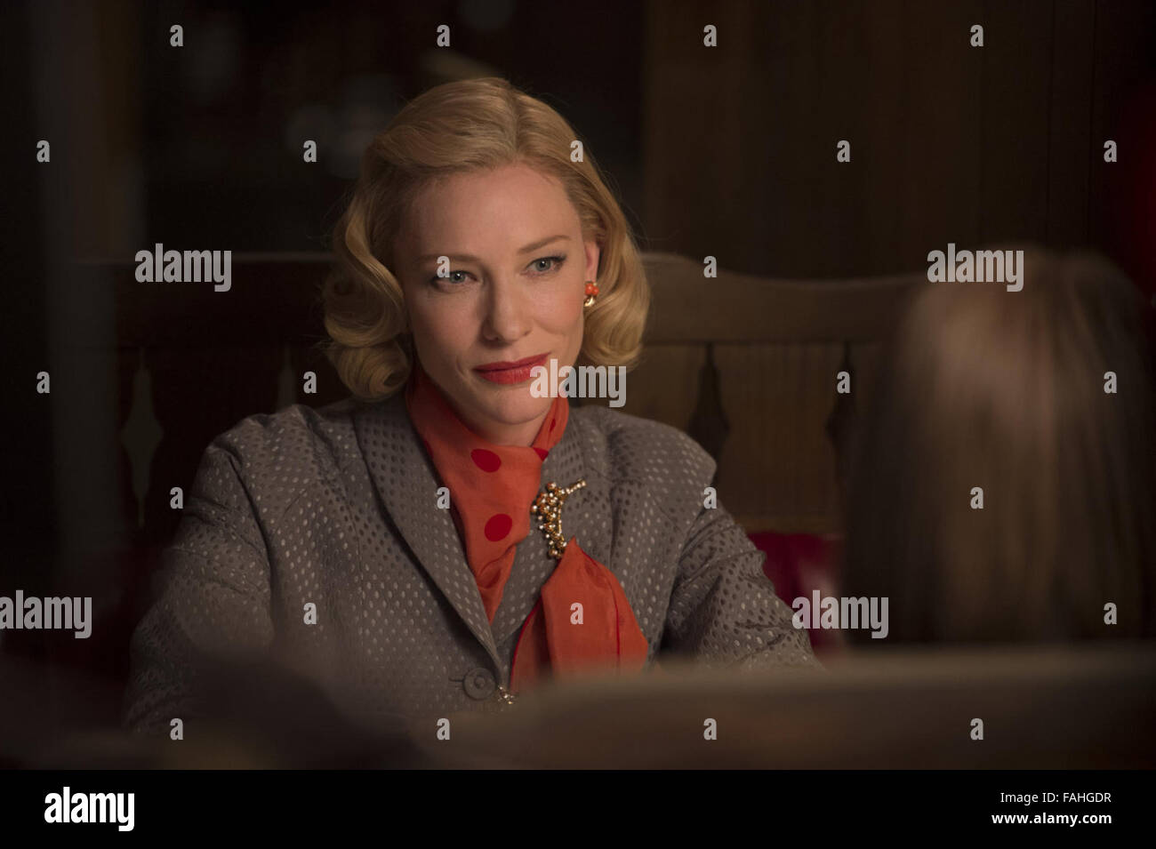 Carol is a 2015 British-American romantic drama film directed by Todd Haynes, from a screenplay by Phyllis Nagy - Stock Image