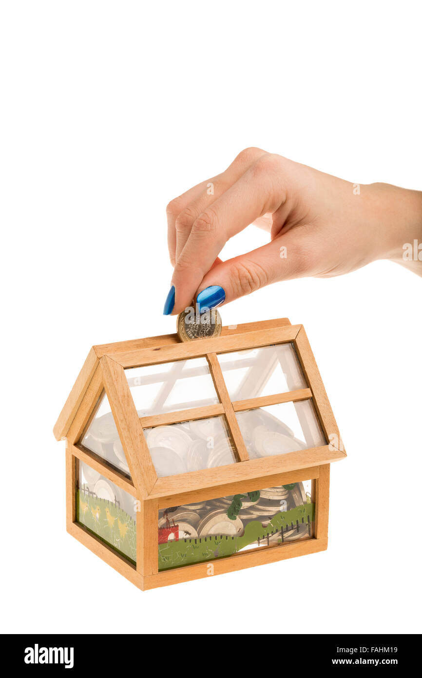 Saving money for house - Stock Image