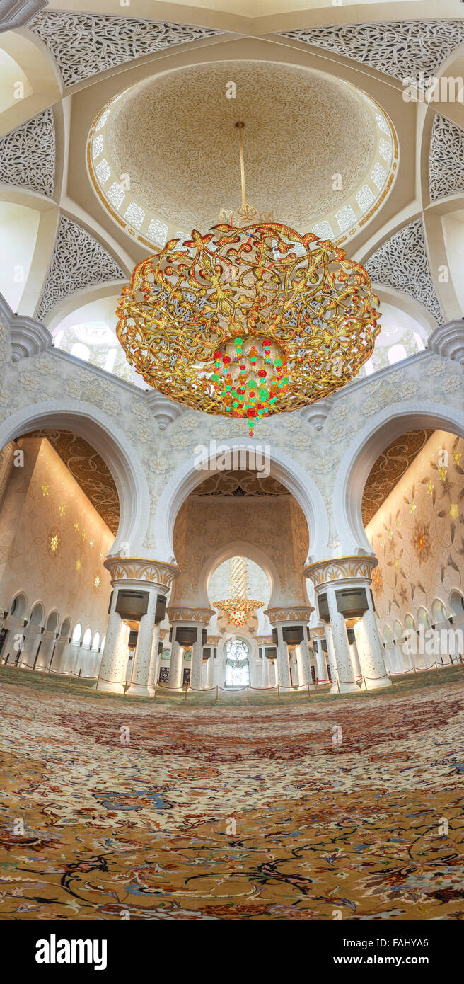 Decoration Of Sheikh Zayed Mosque And Biggest In The World Stock Photo Alamy