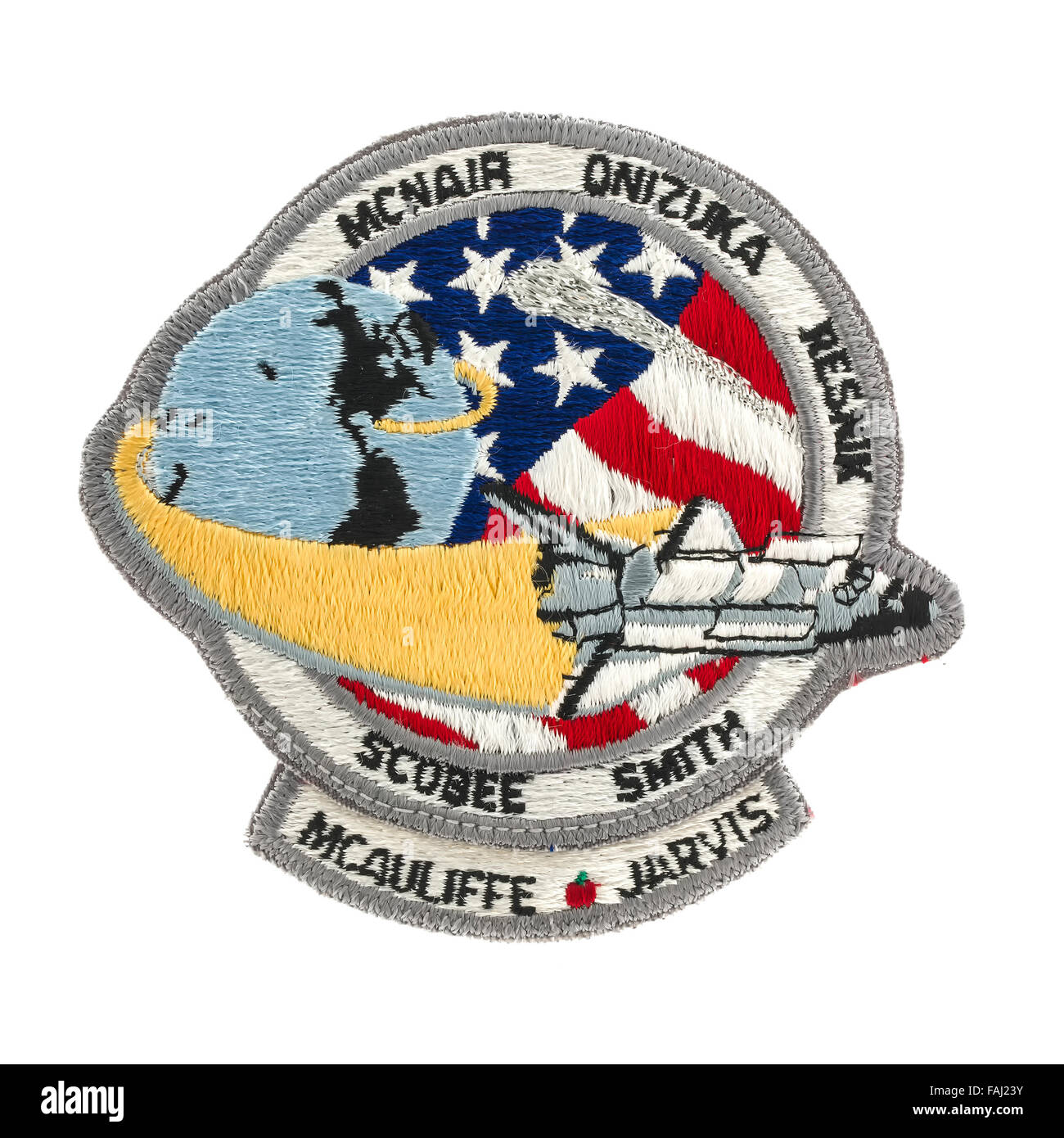 Mission Badge from the ill fated STS-51L Space Shuttle Flight - Stock Image