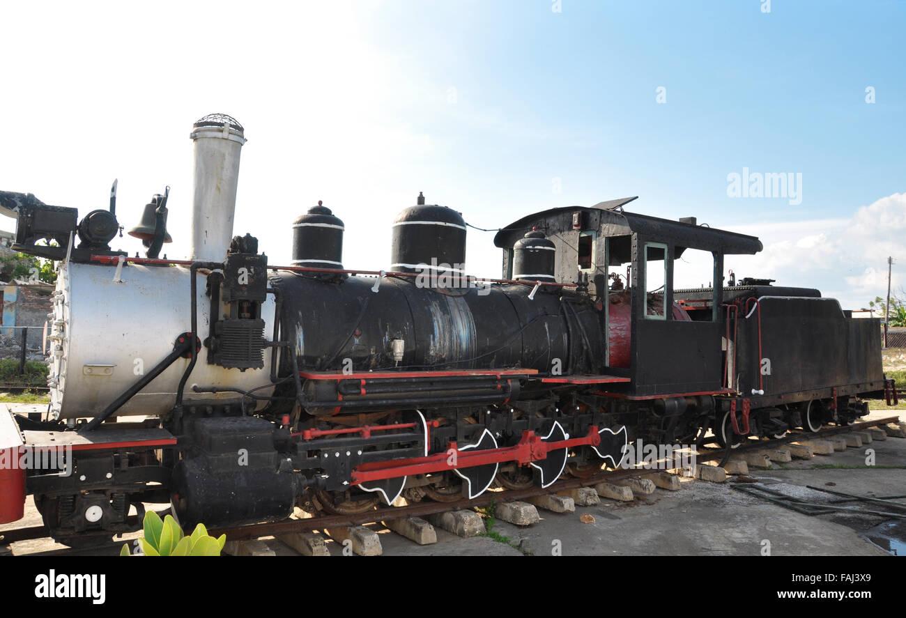 Park Locomotives (Railway Museum) in Cienfuegos, Cuba Stock Photo