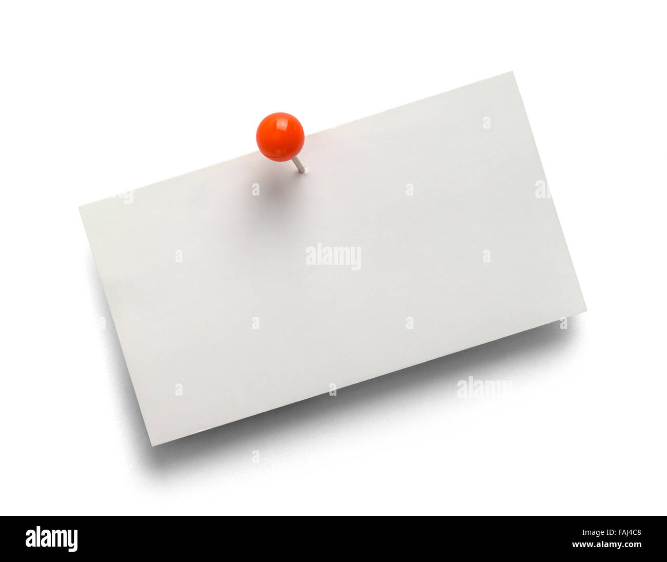Blank business card with red tack isolated on a white background blank business card with red tack isolated on a white background reheart Gallery