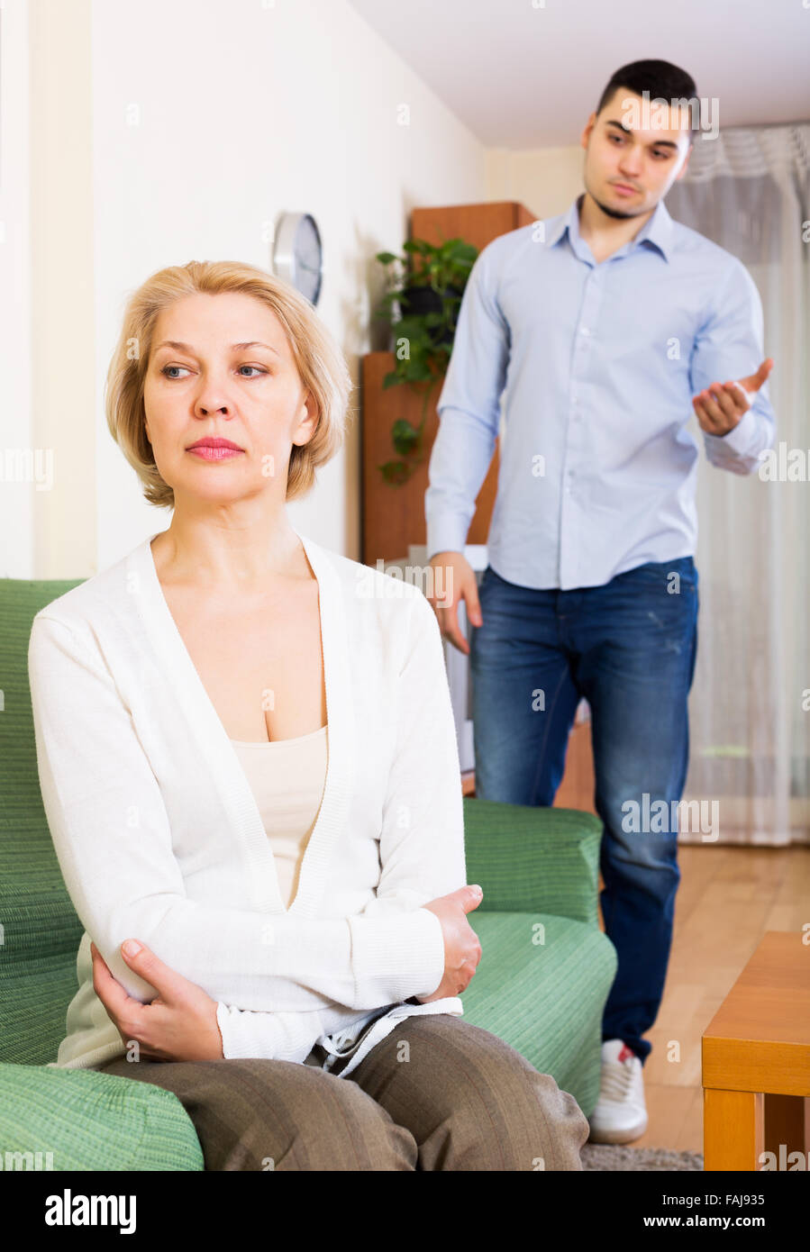 Mature woman younger man
