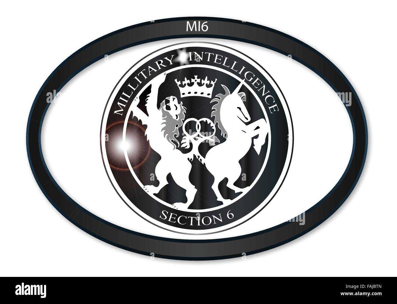Oval Metal Button With A Depiction Of The MI6 Horses