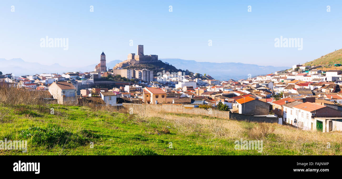 General view of  old andalusian town.  Alcaudete,  Spain Stock Photo