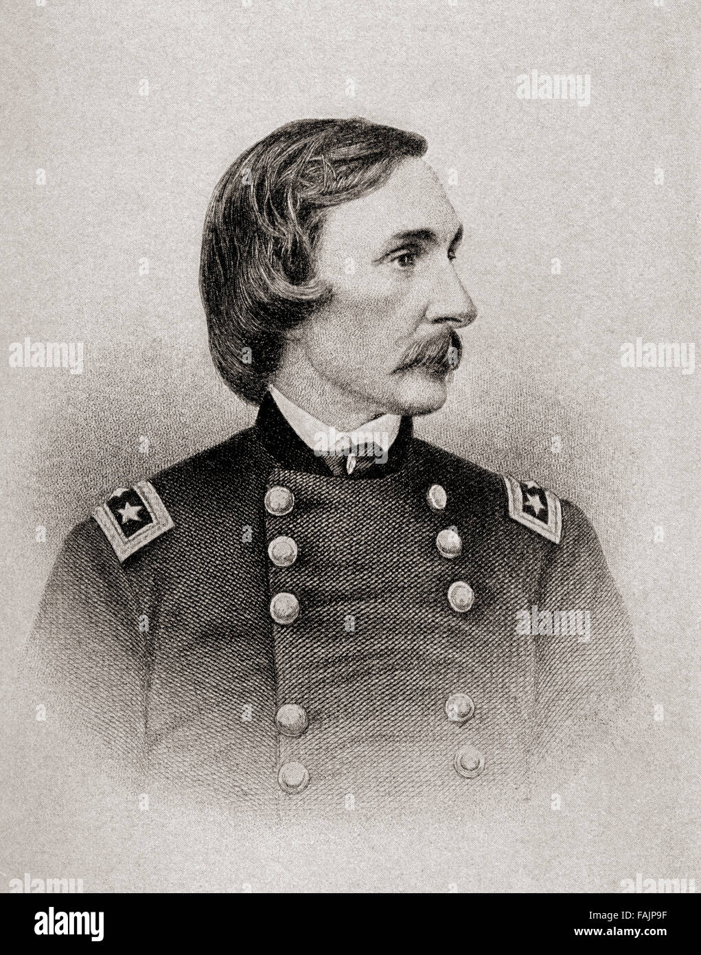 Gouverneur Kemble Warren, 1830 – 1882.  Civil engineer and Union Army general during the American Civil War. - Stock Image