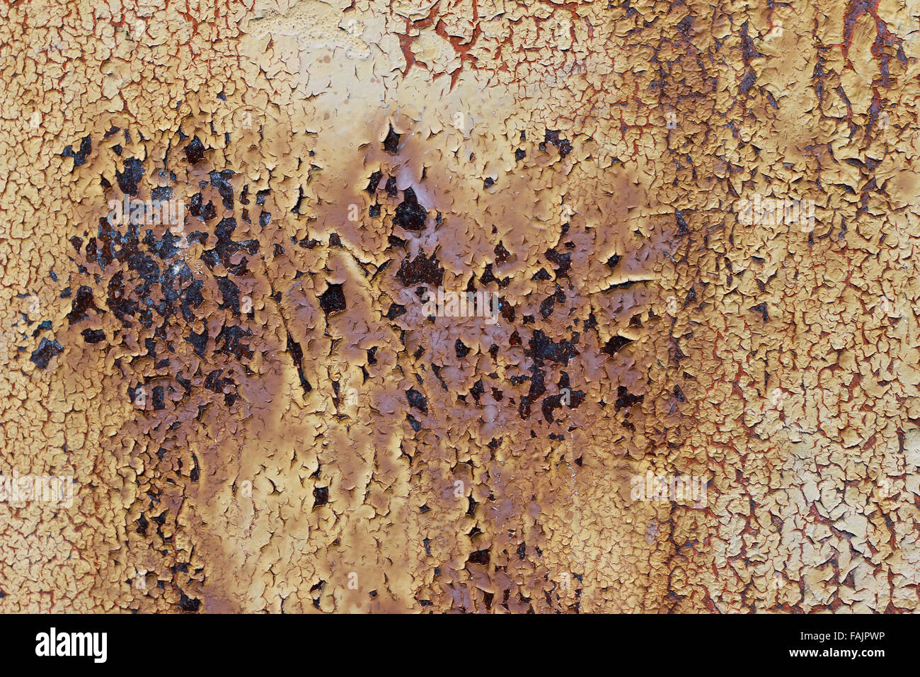 0ld rusty metal - flaky paint - Stock Image