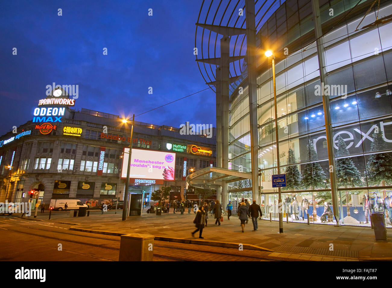 The Printworks and Arndale Centre on Corporation Street in Manchester city centre, England UK. - Stock Image