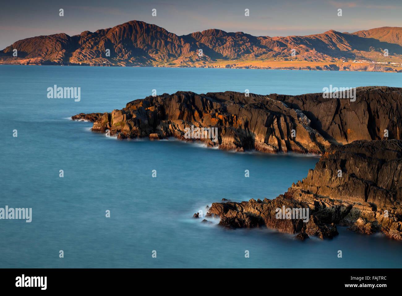 view on coast  near Allihies and Coomeen Beara Peninsula, Co. Kerry. Ireland - Stock Image