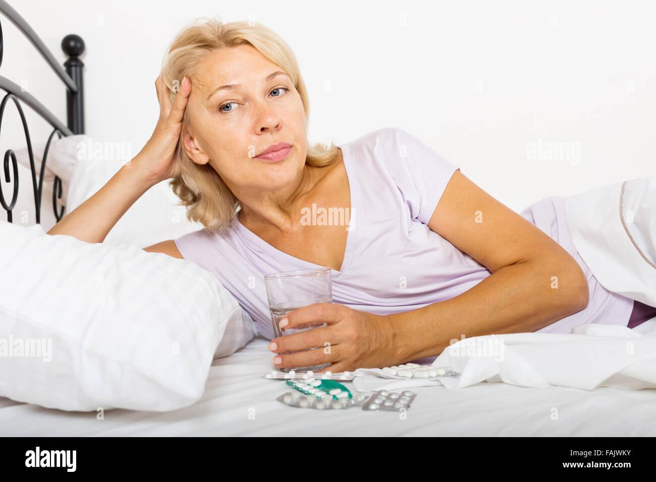 Mature wife asleep