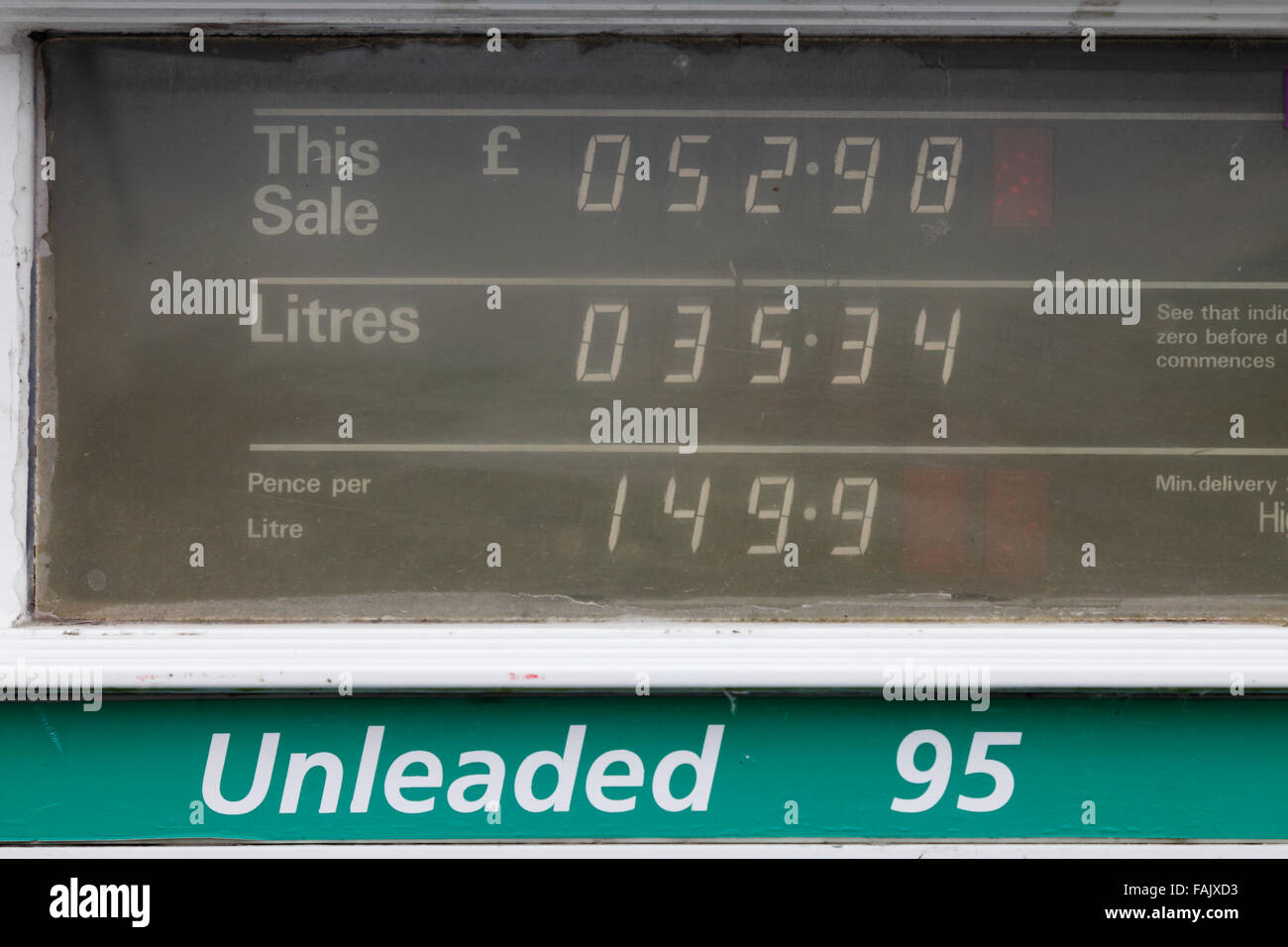 display of an old petrol pump dispenser Stock Photo