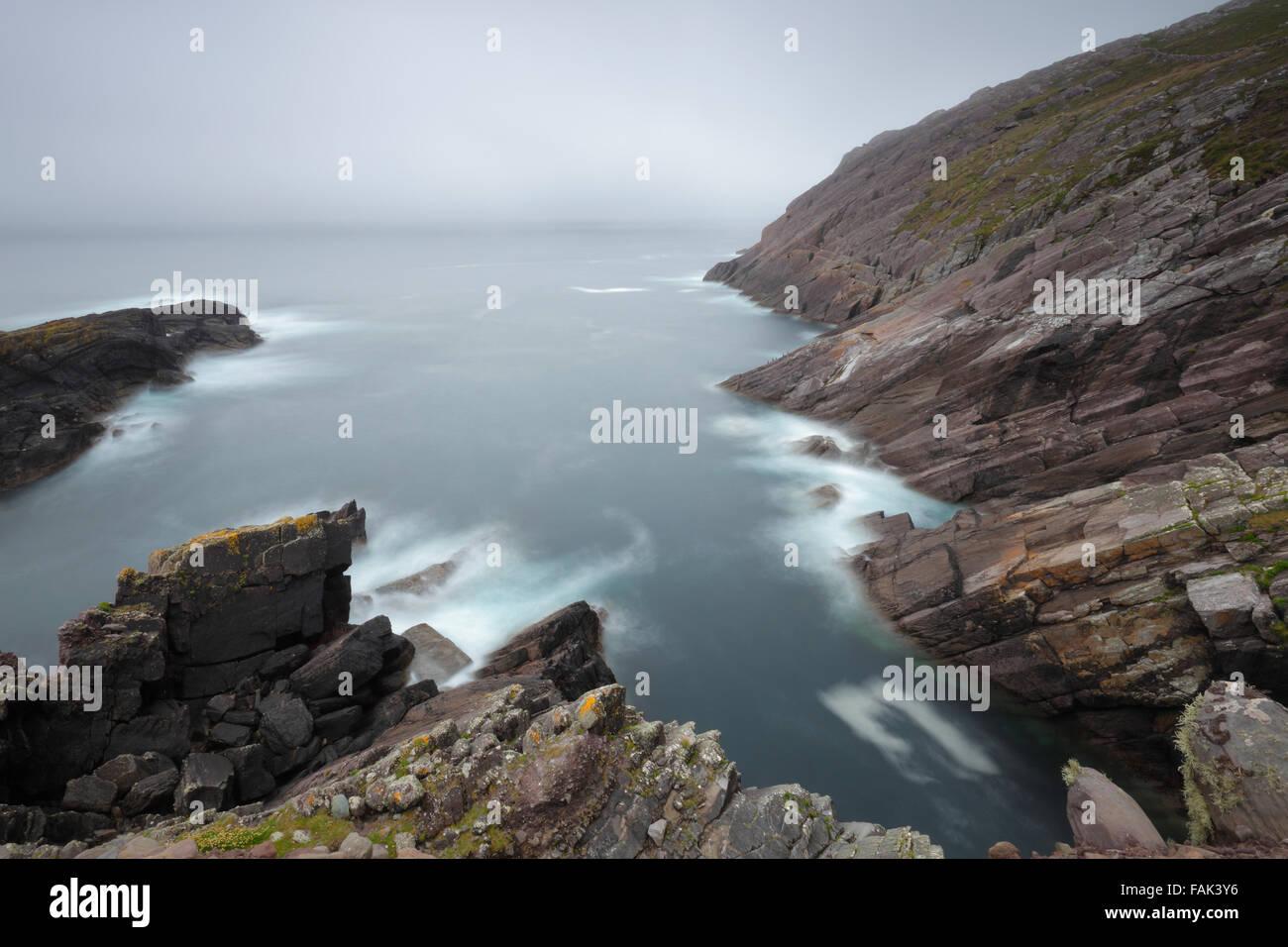Hog's Head cliffs near Waterville, County Kerry, Ireland - Stock Image