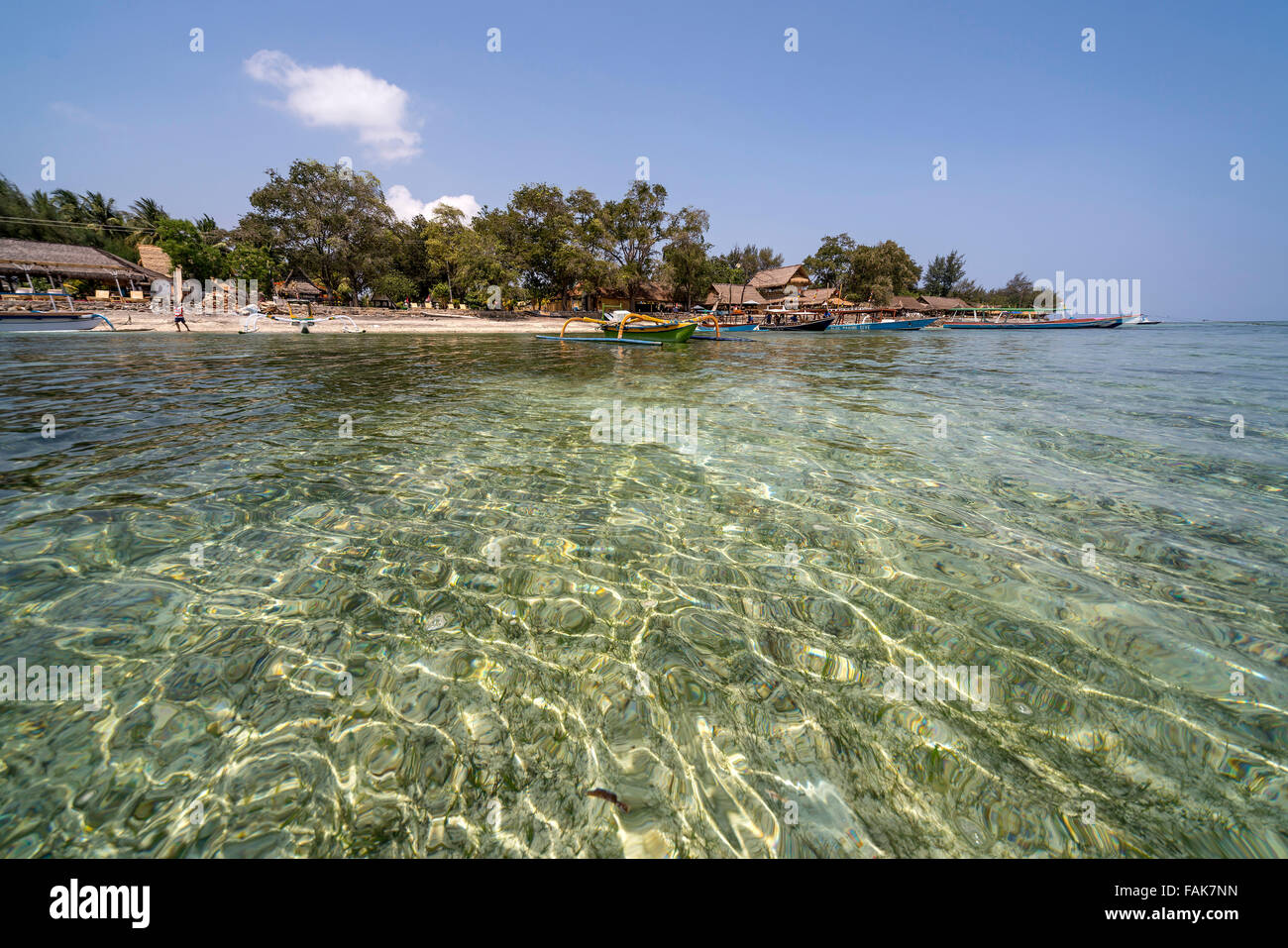 Beach on the small island Gili Air, Lombok, Indonesia, Asia - Stock Image