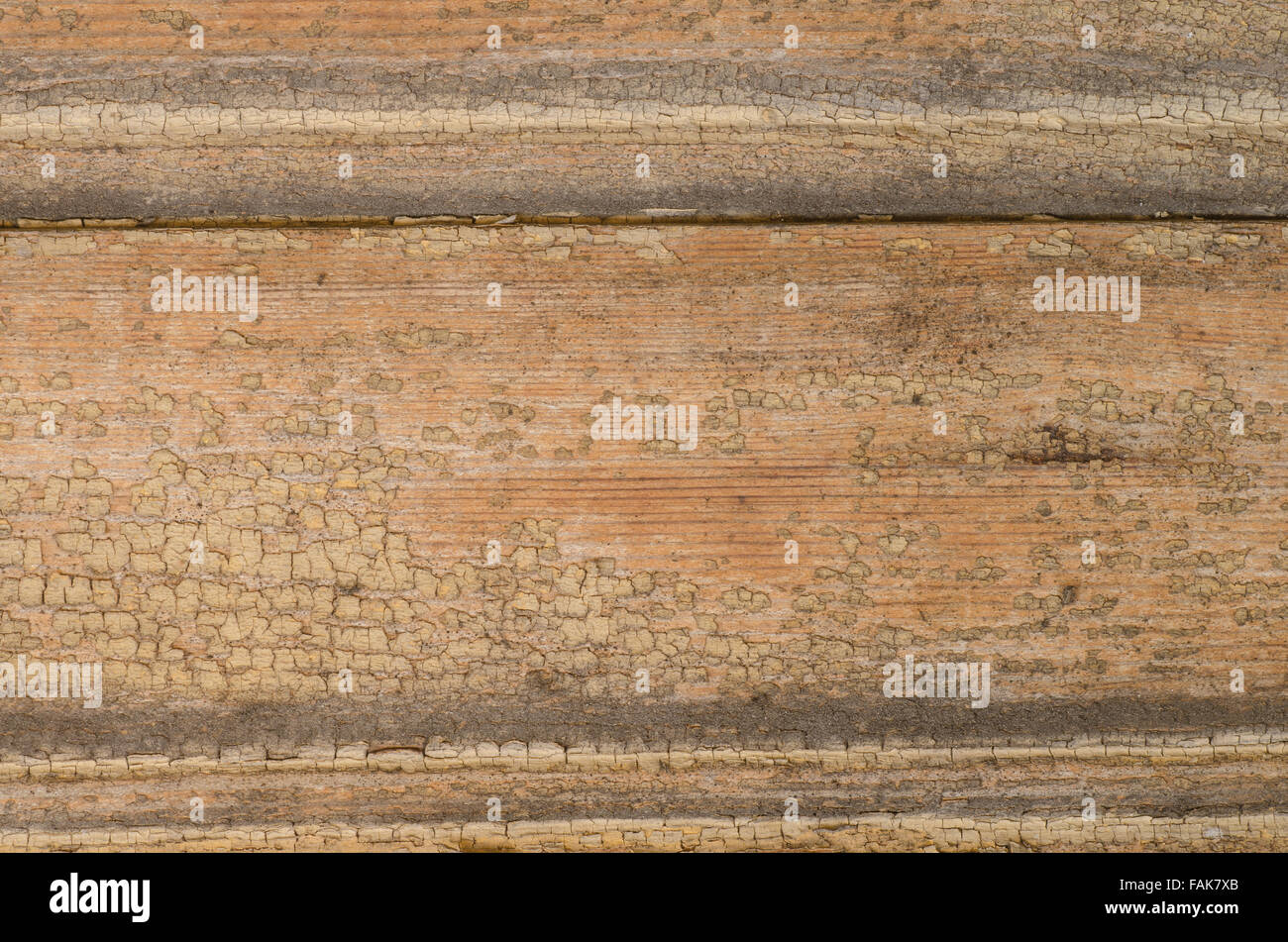 old weathered  painted wooden wall - Stock Image