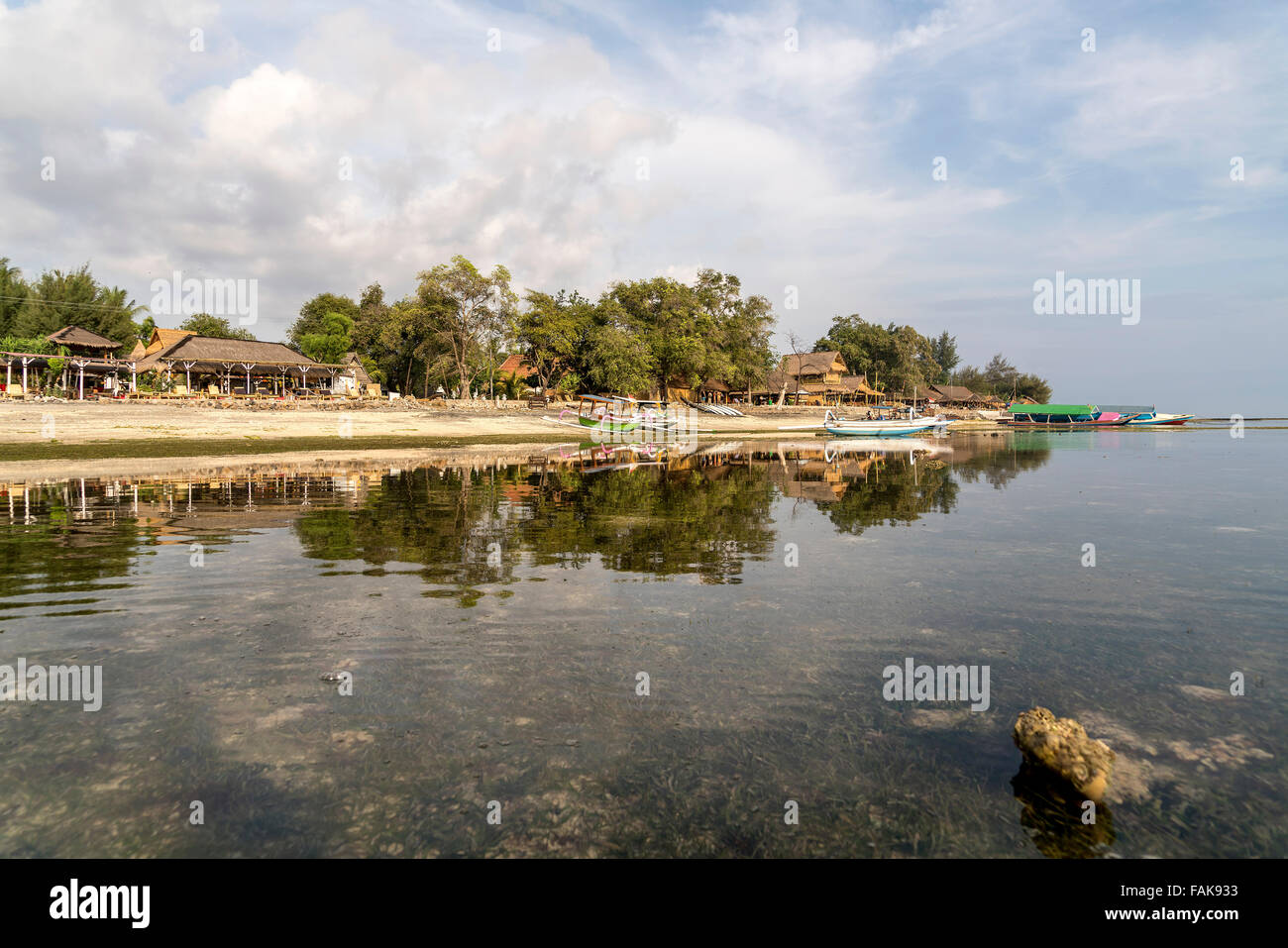 the small island Gili Air, Lombok, Indonesia, Asia - Stock Image