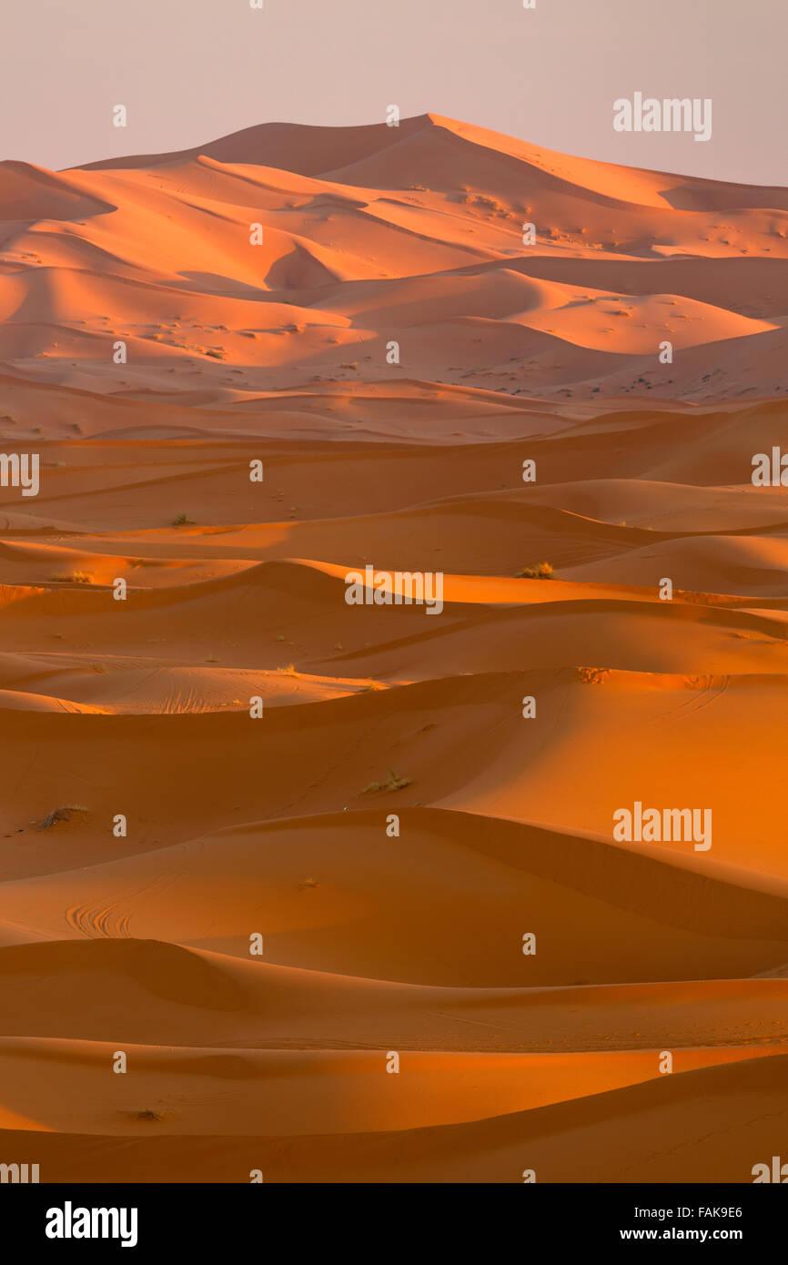 Merzouga dunes. Erg Chebbi. Morocco. North Africa. - Stock Image
