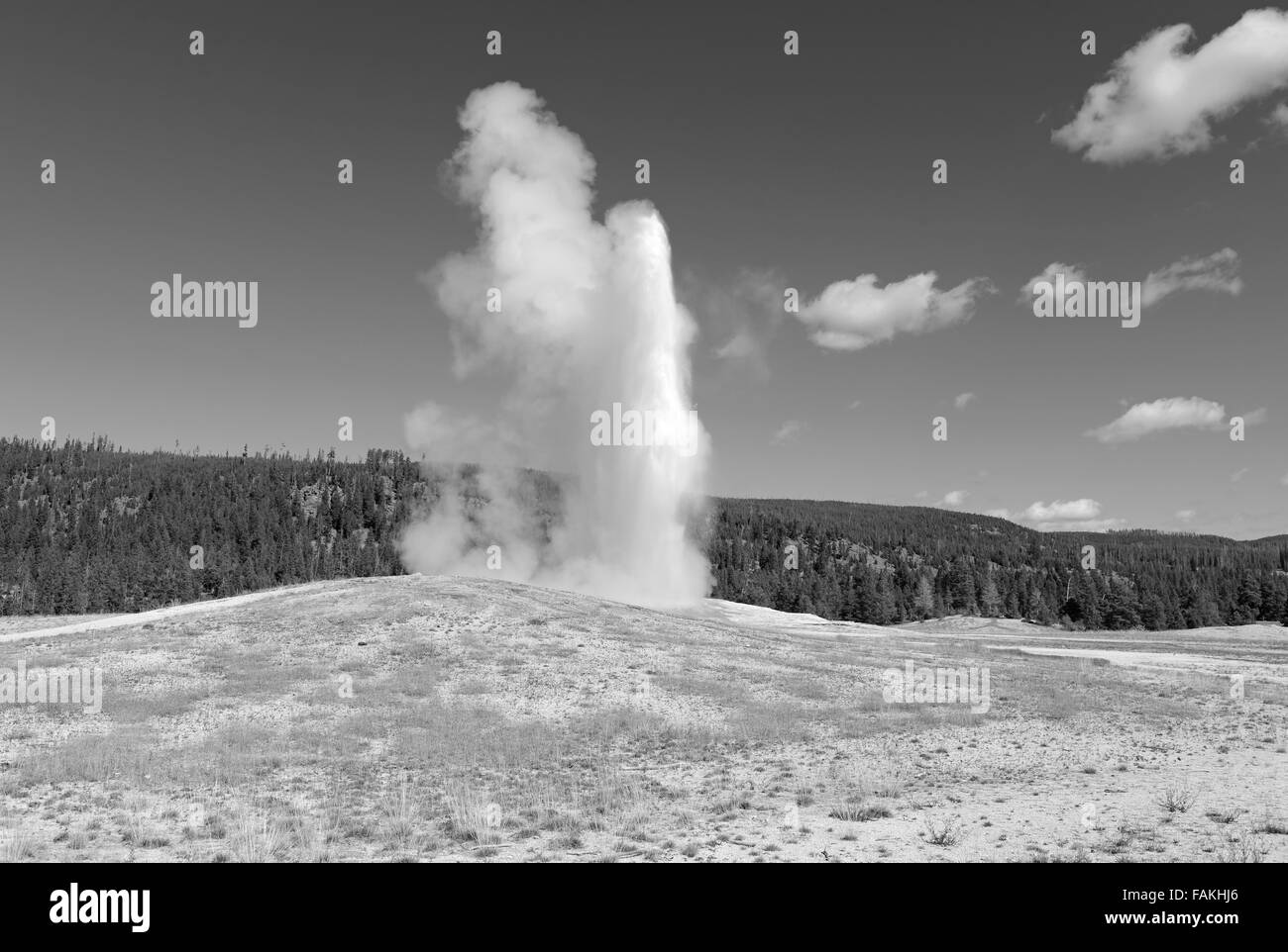 Geothermal activity at Yellowstone National Park, Wyoming, USA Stock Photo