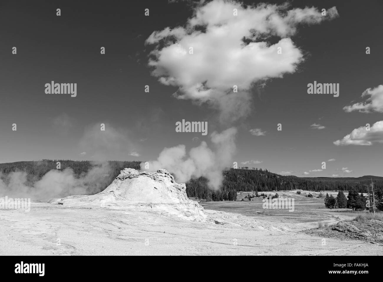 Geothermal activity at Yellowstone National Park, Wyoming, USA - Stock Image