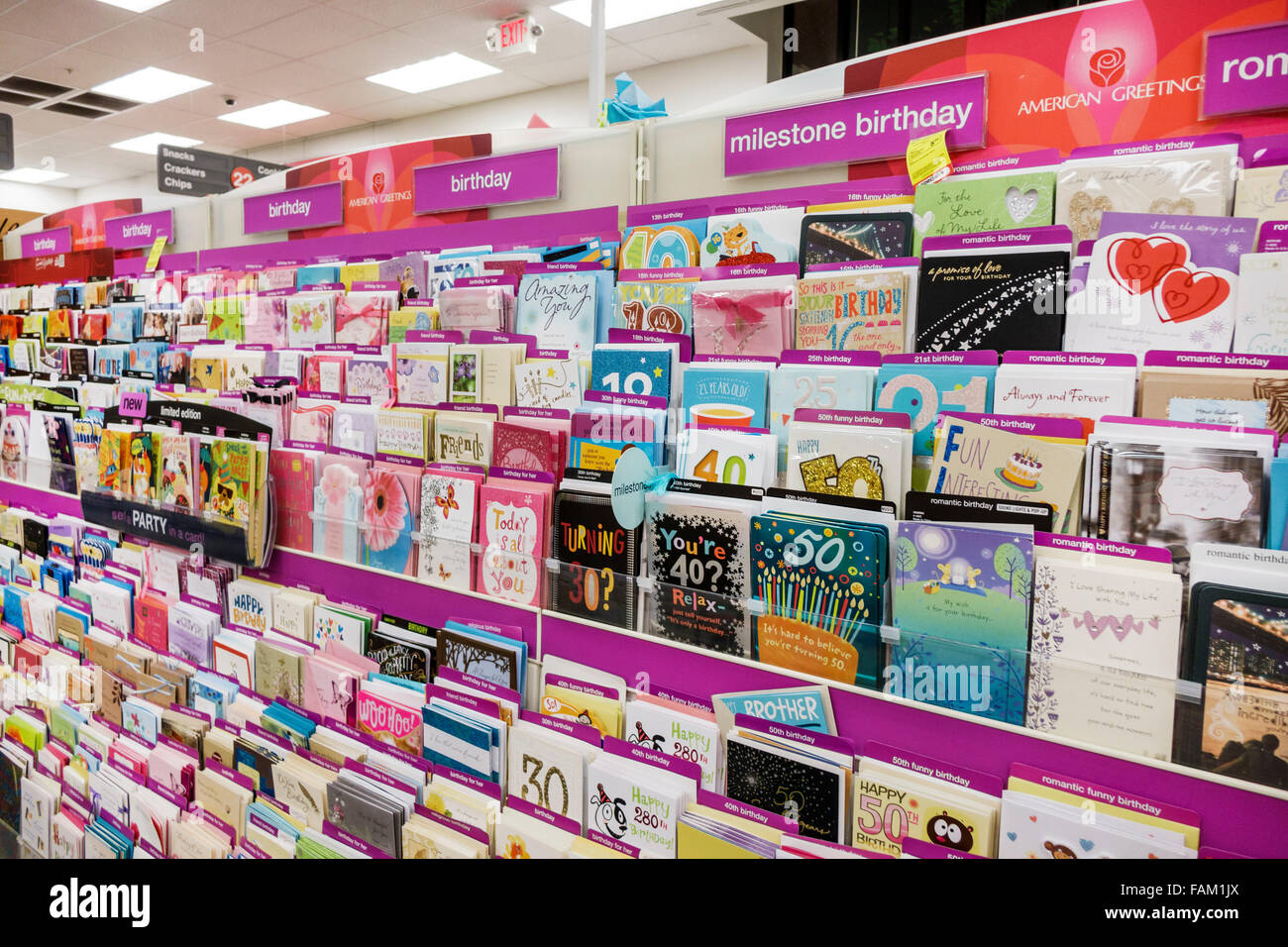 Display greeting cards stock photos display greeting cards stock gainesville florida cvs pharmacy drugstore inside sale display greeting cards birthday stock image m4hsunfo