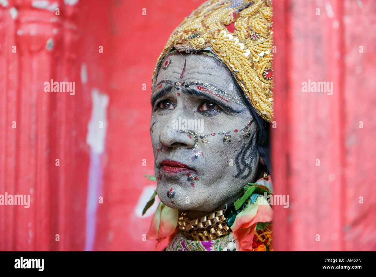 An unidentified local Sadhu during Pushkar Fair in Pushkar, Rajasthan, India. - Stock Image