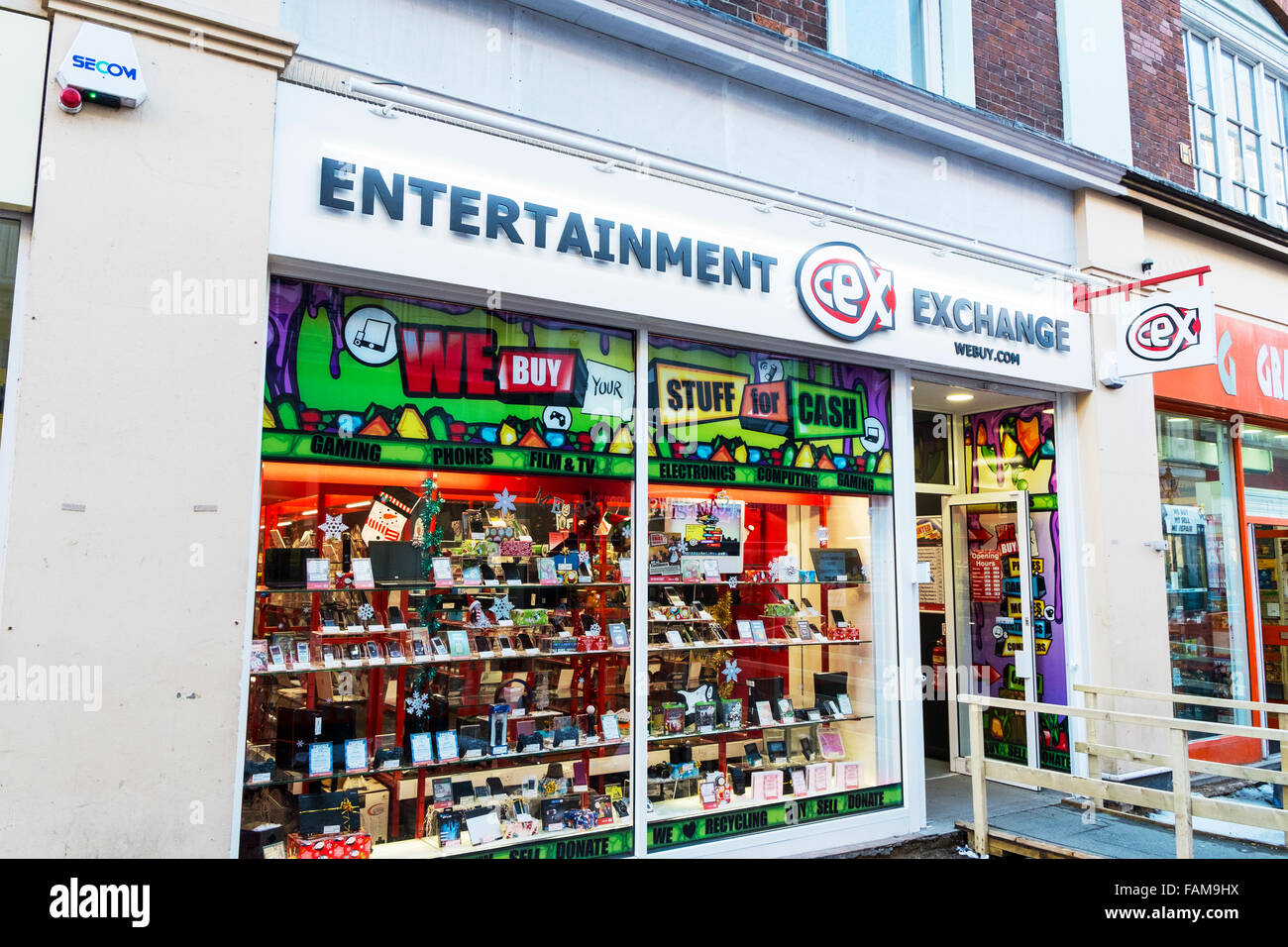 CEX Entertainment Exchange Shop Store Sign Front Entrance Logo Kingston Upon Hull UK England