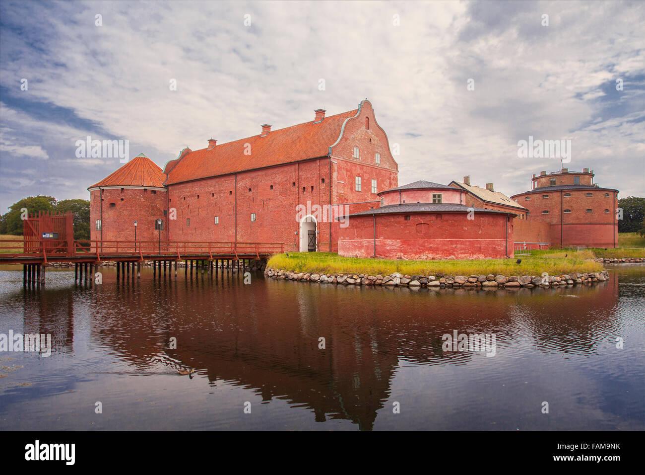 Image of Landskrona Citadel, old fort and prison in Landskrona, Sweden. Stock Photo