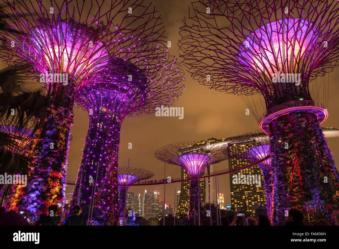 Super Trees Gardens Bay Singapore Stock Photos & Super Trees Gardens ...