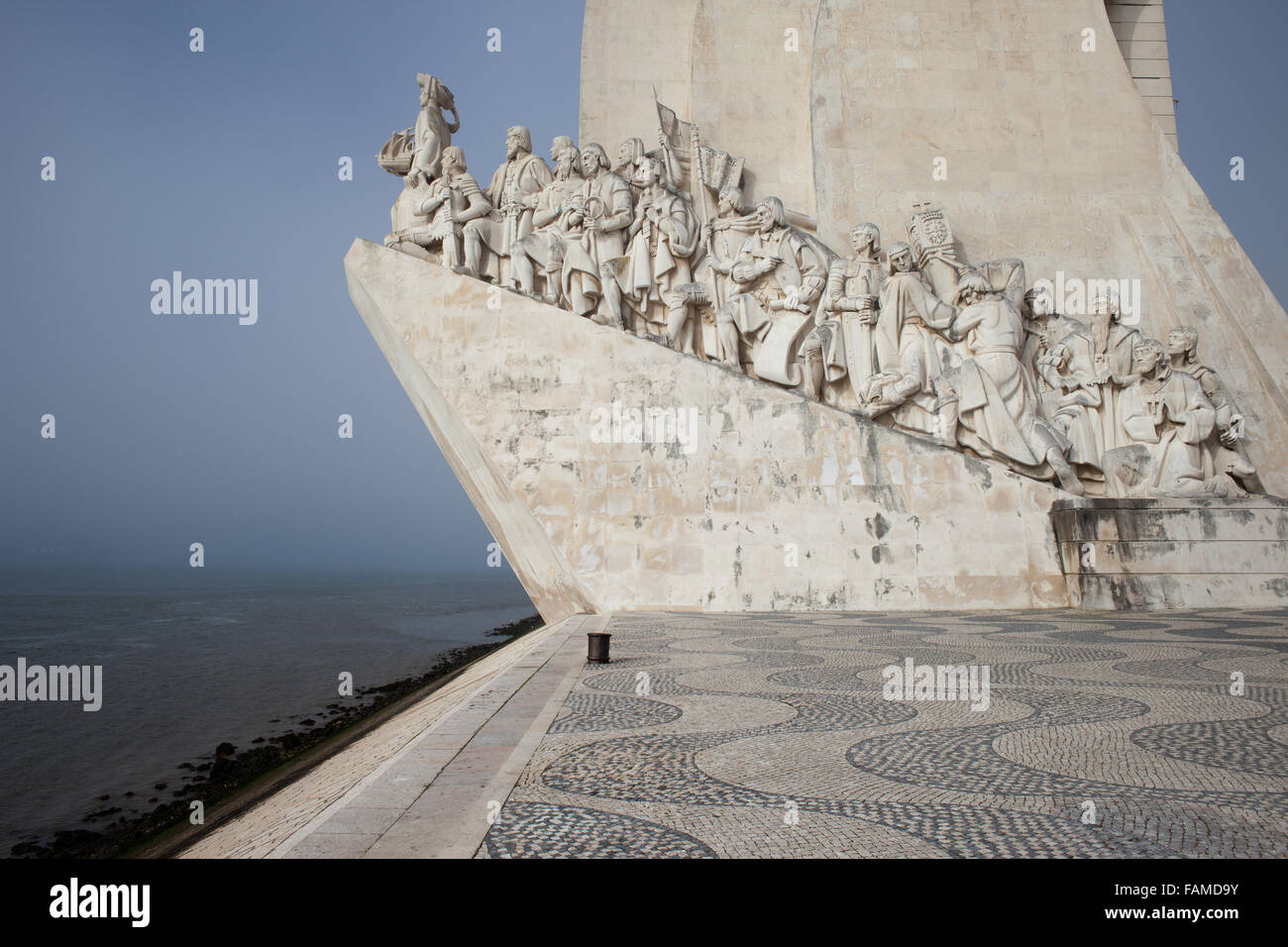 Monument to the Discoveries (Padrao dos Descobrimentos) in Lisbon, Portugal - Stock Image