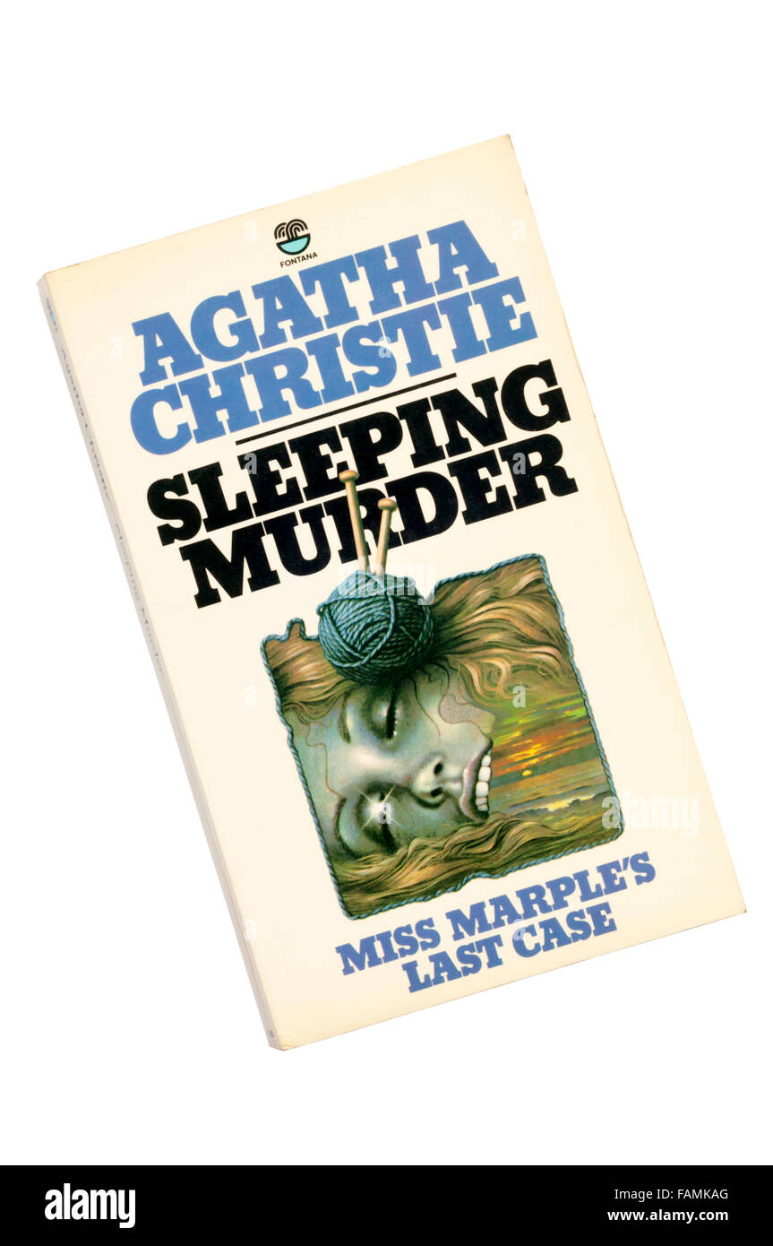 Paperback edition of Sleeping Murder by Agatha Christie.  Miss Marple's last case published in 1976 but written - Stock Image