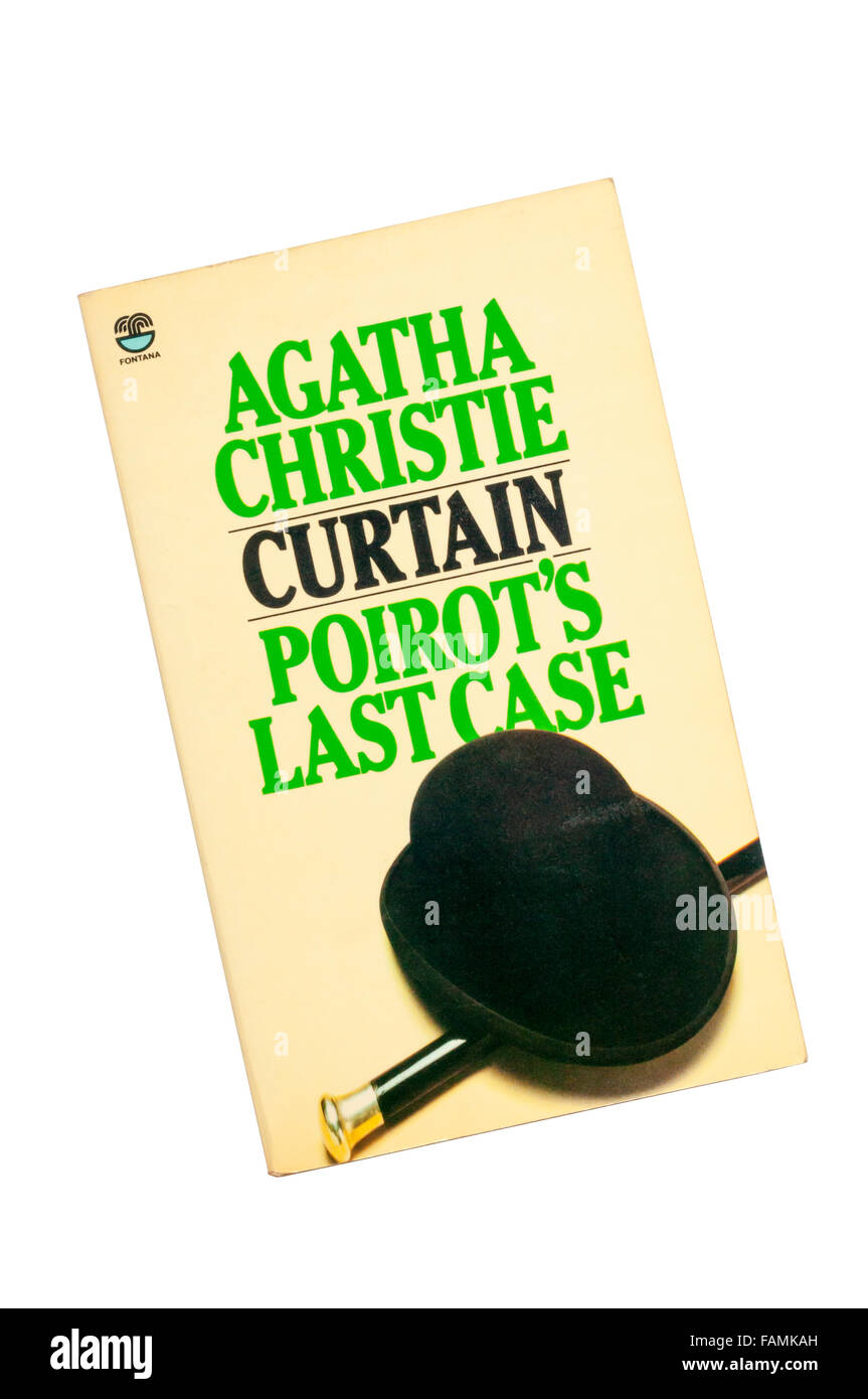 Collins paperback edition of Curtain, Poirot's Last Case by Agatha Christie.  1st published in 1975 but written - Stock Image