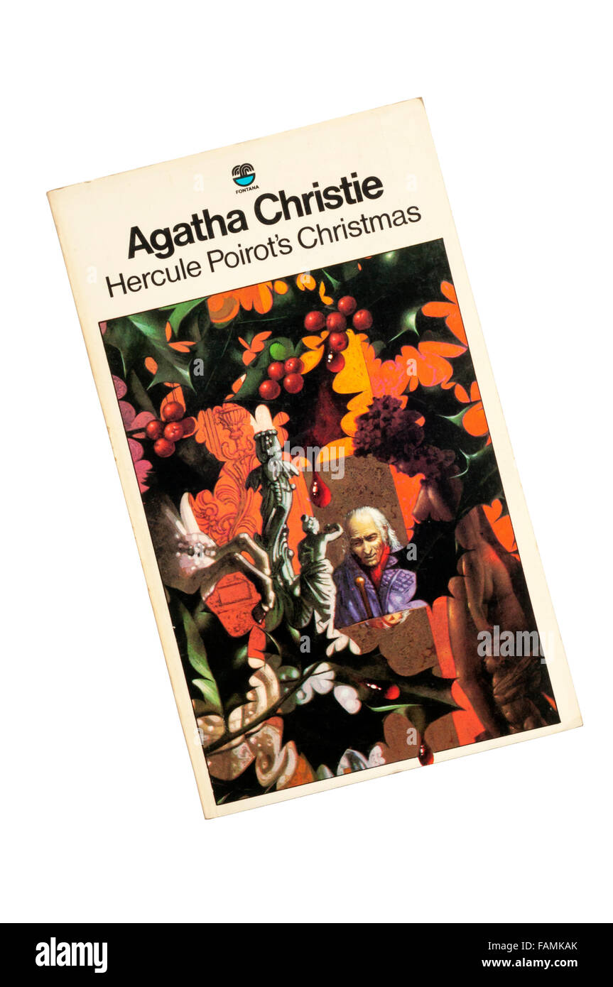 Collins paperback edition of Hercule Poirot's Christmas by Agatha Christie.  First published in 1938. - Stock Image