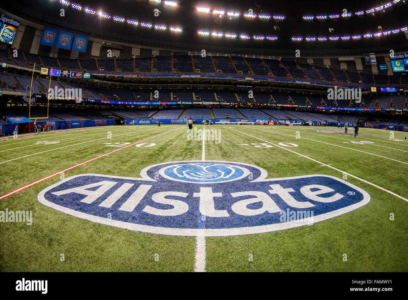 Allstate My Account >> The Allstate logo during the Allstate Sugar Bowl College ...