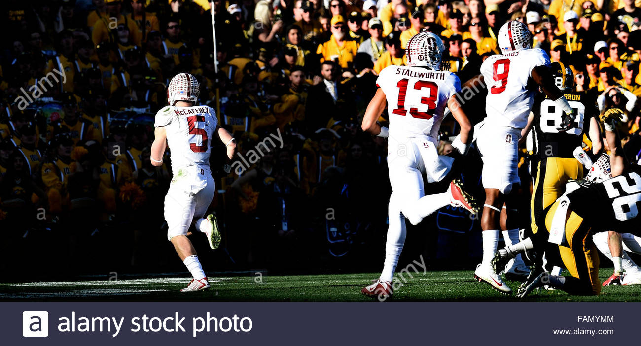 Pasadena, California, USA. 01st Jan, 2016. Stanford running back Christian McCaffrey (5) runs for a touchdown against - Stock Image