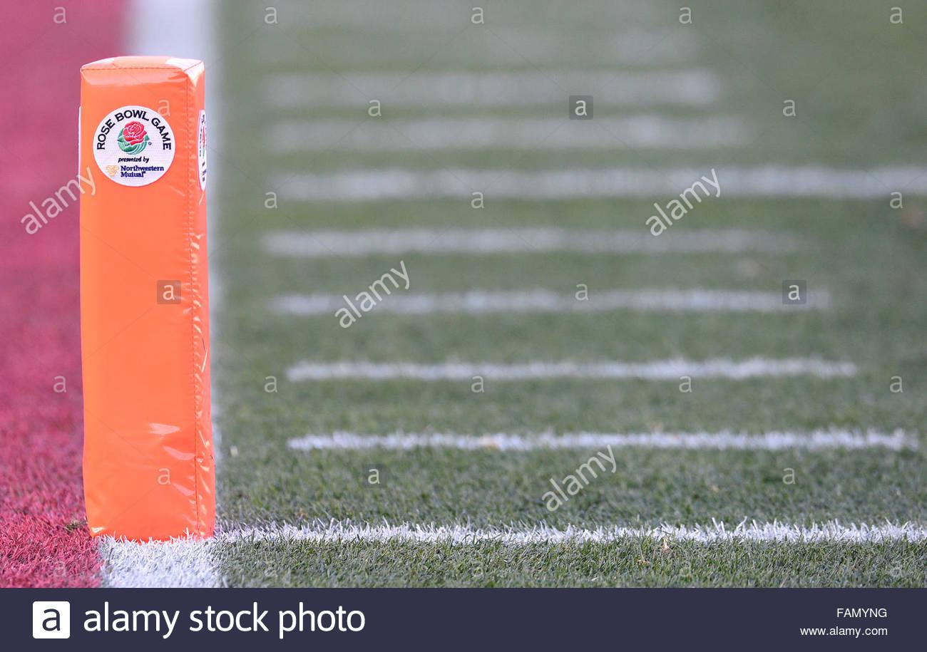 Pasadena, California, USA. 01st Jan, 2016. The 102nd Rose Bowl game between Iowa and Stanford in Pasadena, California - Stock Image
