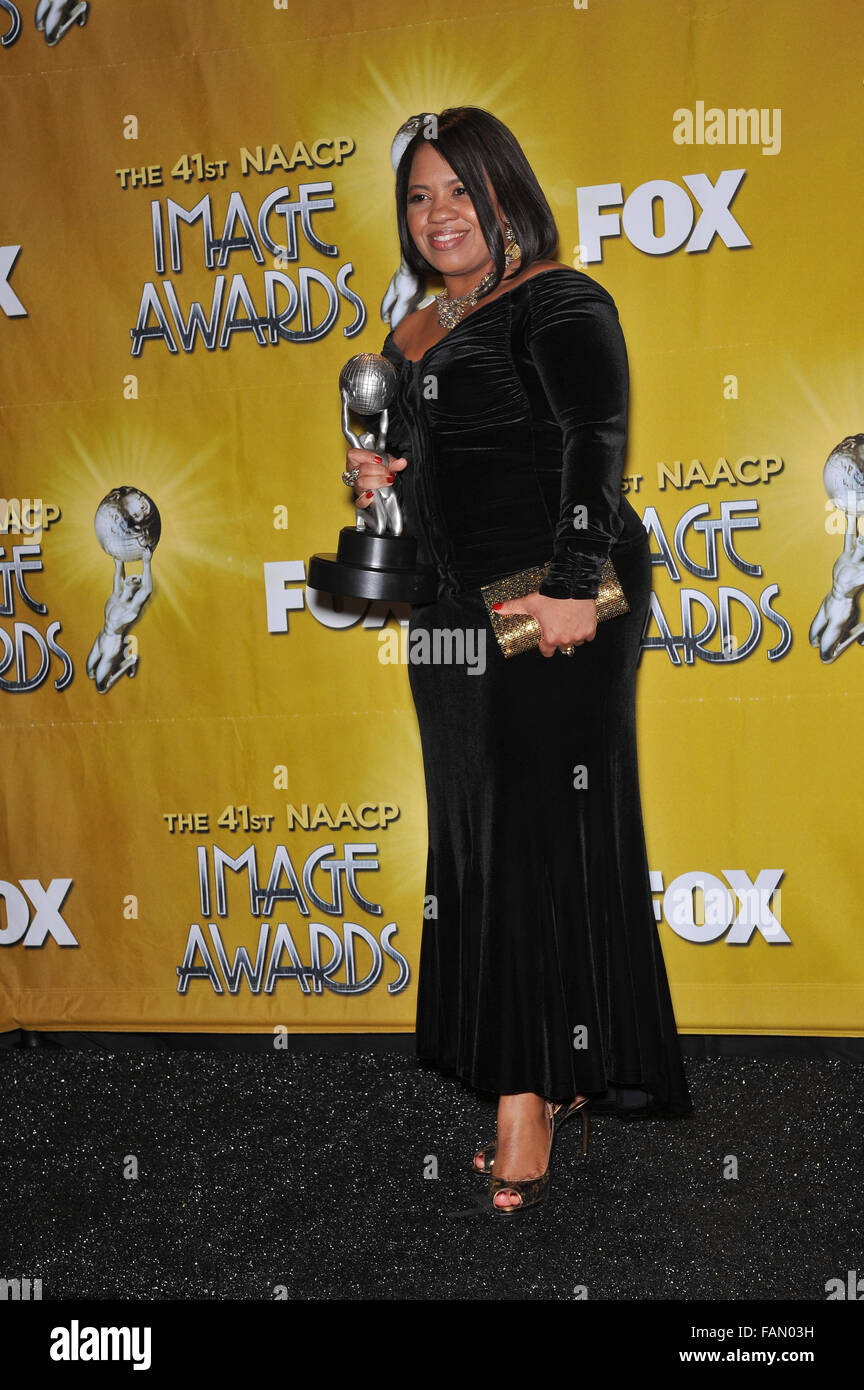 LOS ANGELES, CA - FEBRUARY 26, 2010: Chandra Wilson at the NAACP Image Awards at the Shrine Auditorium. - Stock Image