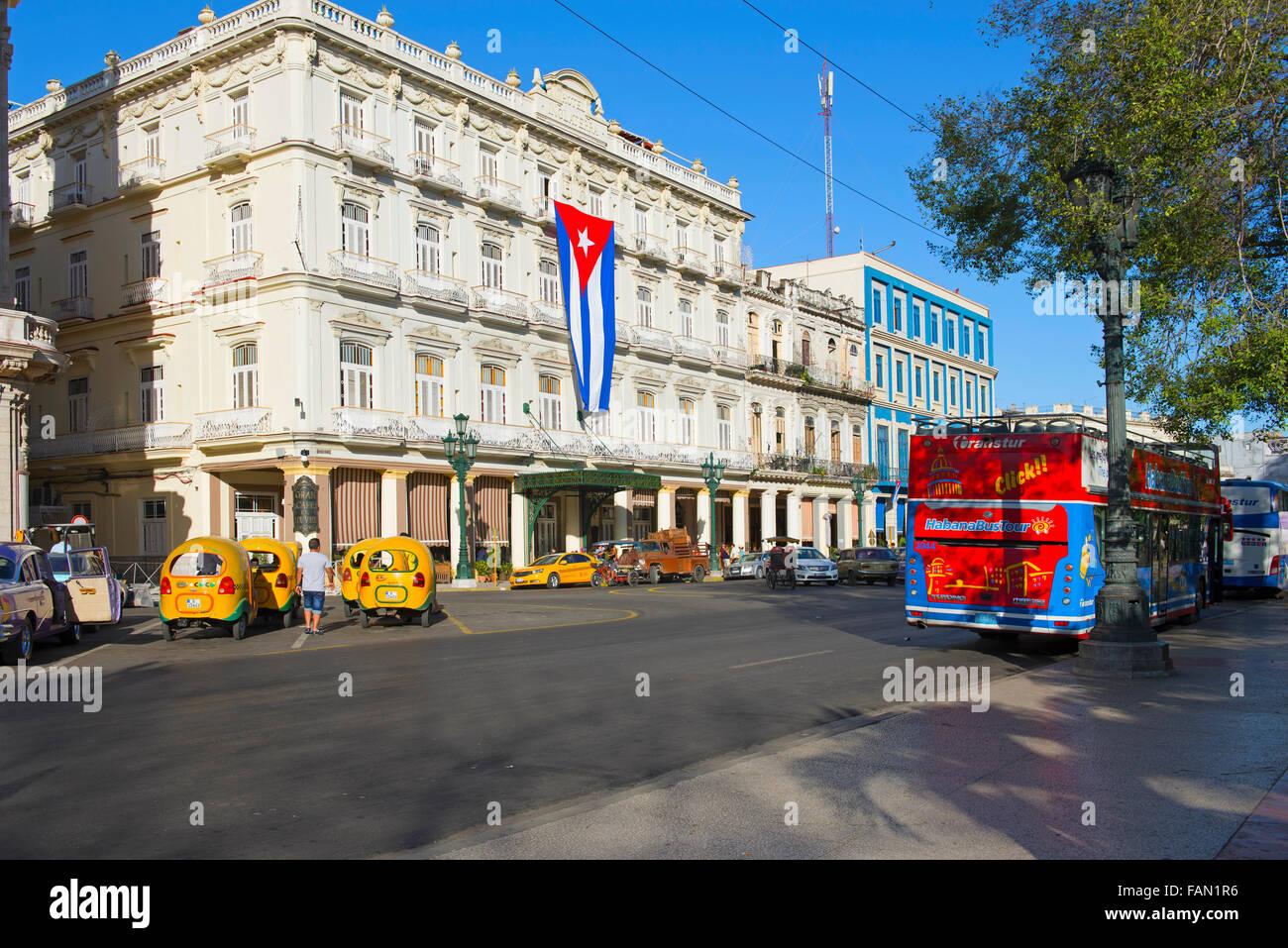 Inglaterra Hotel and Telegrafo Hotel, Havana, La Habana, Cuba - Stock Image