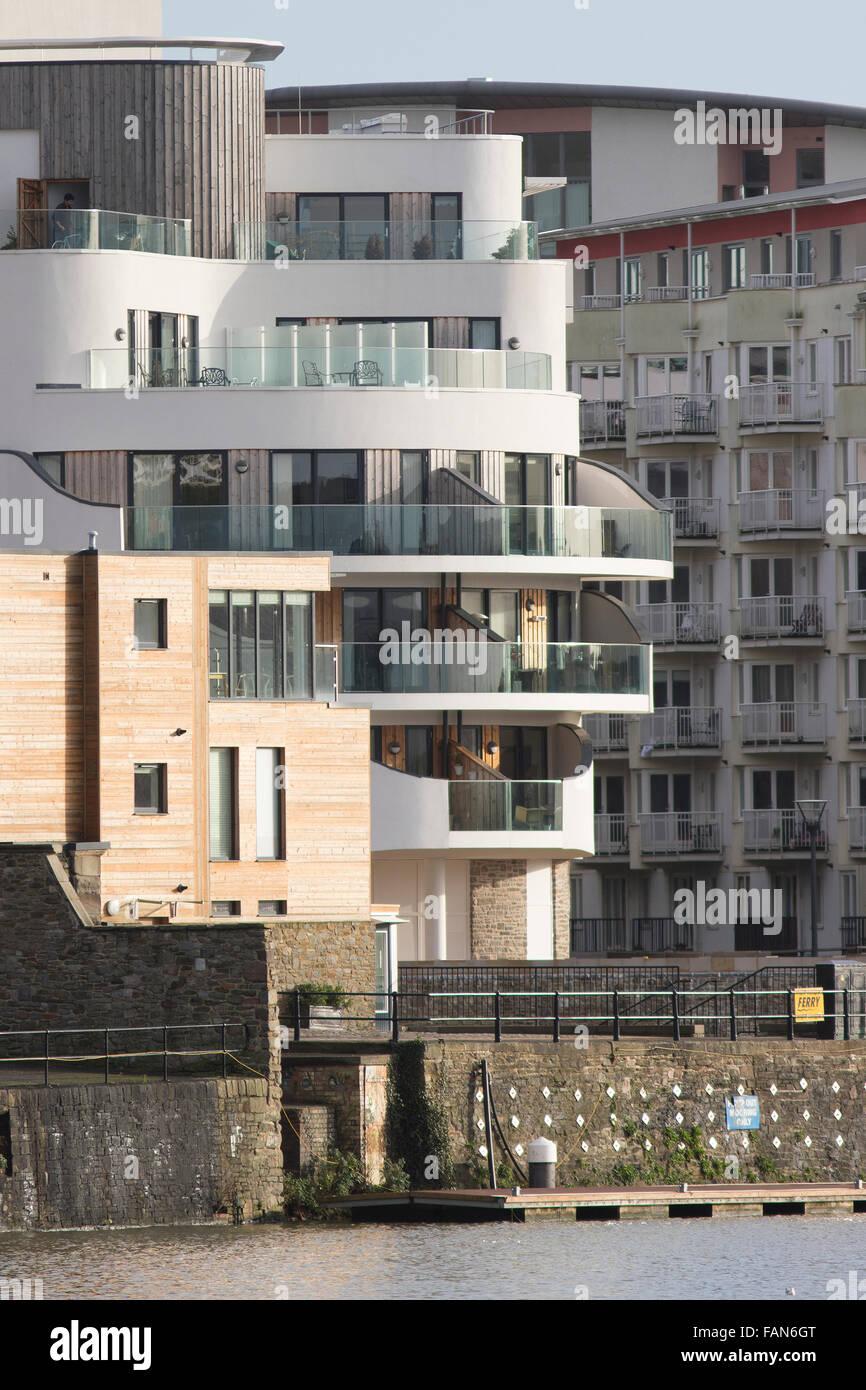 Bristol Harbourside Development - Stock Image