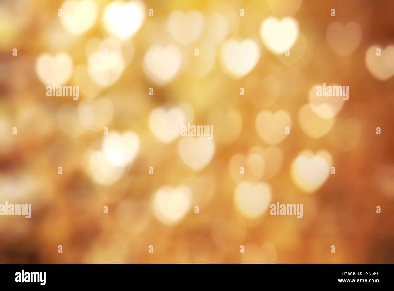 Golden texture bokeh of light. Element of design. - Stock Image