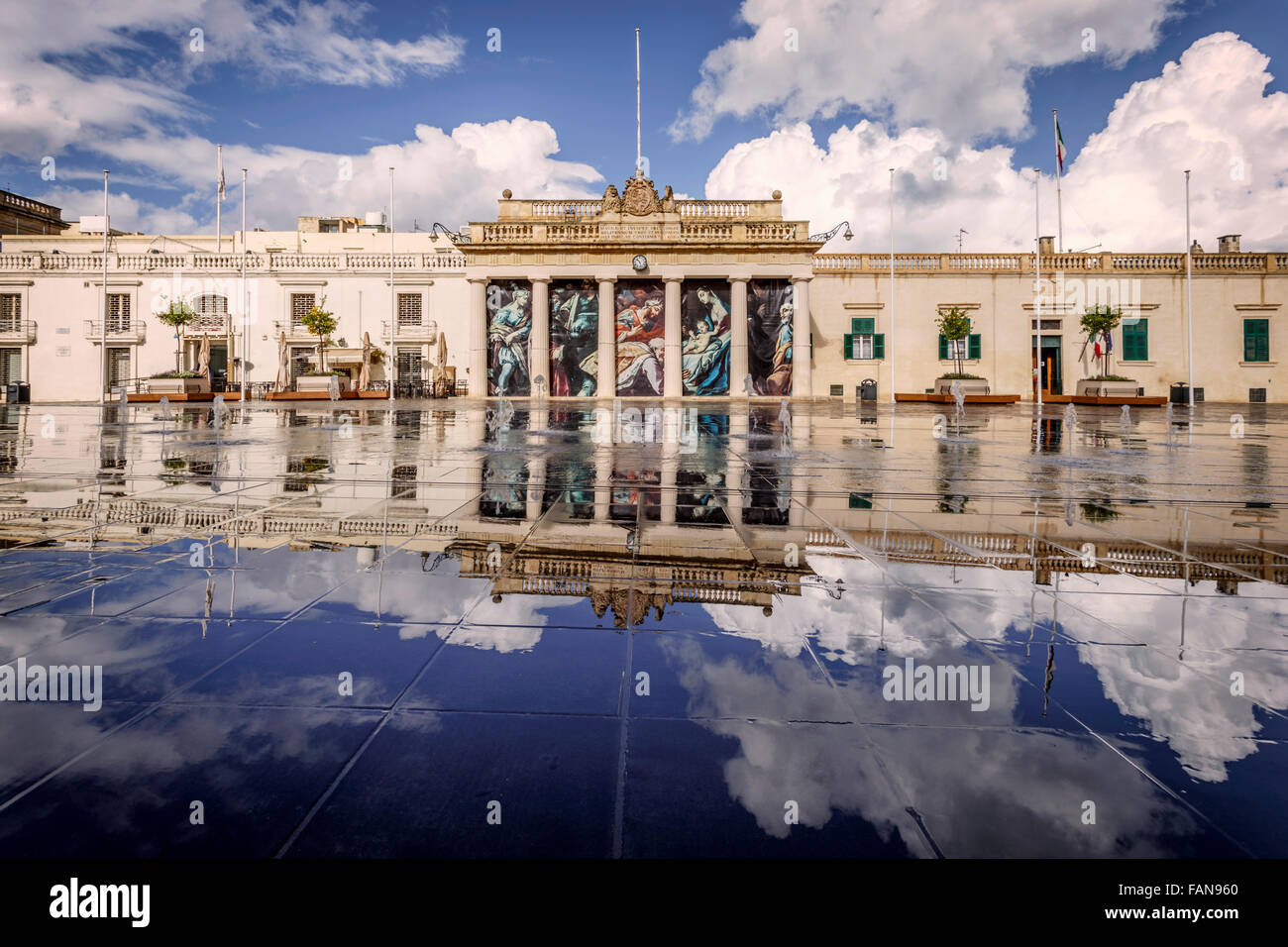 Main Guard Building, St George's Square, Valletta, Malta - Stock Image