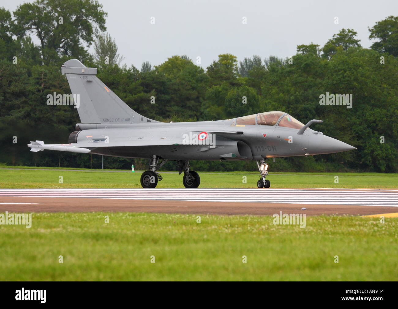 The French Dassault Rafale on the runway at the Royal International Air Tattoo 2012 - Stock Image
