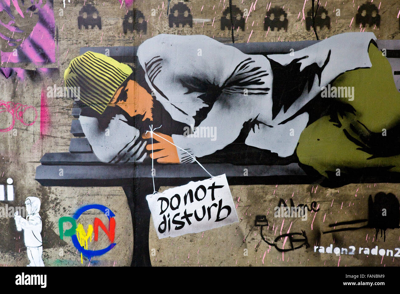 Graffiti and street art From The Cans Festival 2008 London - Stock Image