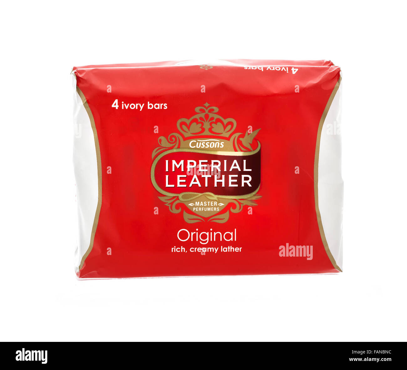 Cussons Imperial Leather Soap on a white background - Stock Image